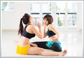 横浜ベリモ・ベリーダンス教室 体験レッスン風景